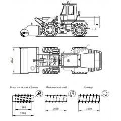 Фреза навесная с автономной силовой установкой ФН-АД-2000